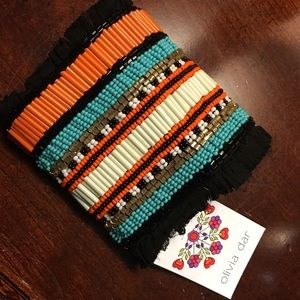 Anthropologie Olivia Dar Wrap Bracelet Beaded NEW